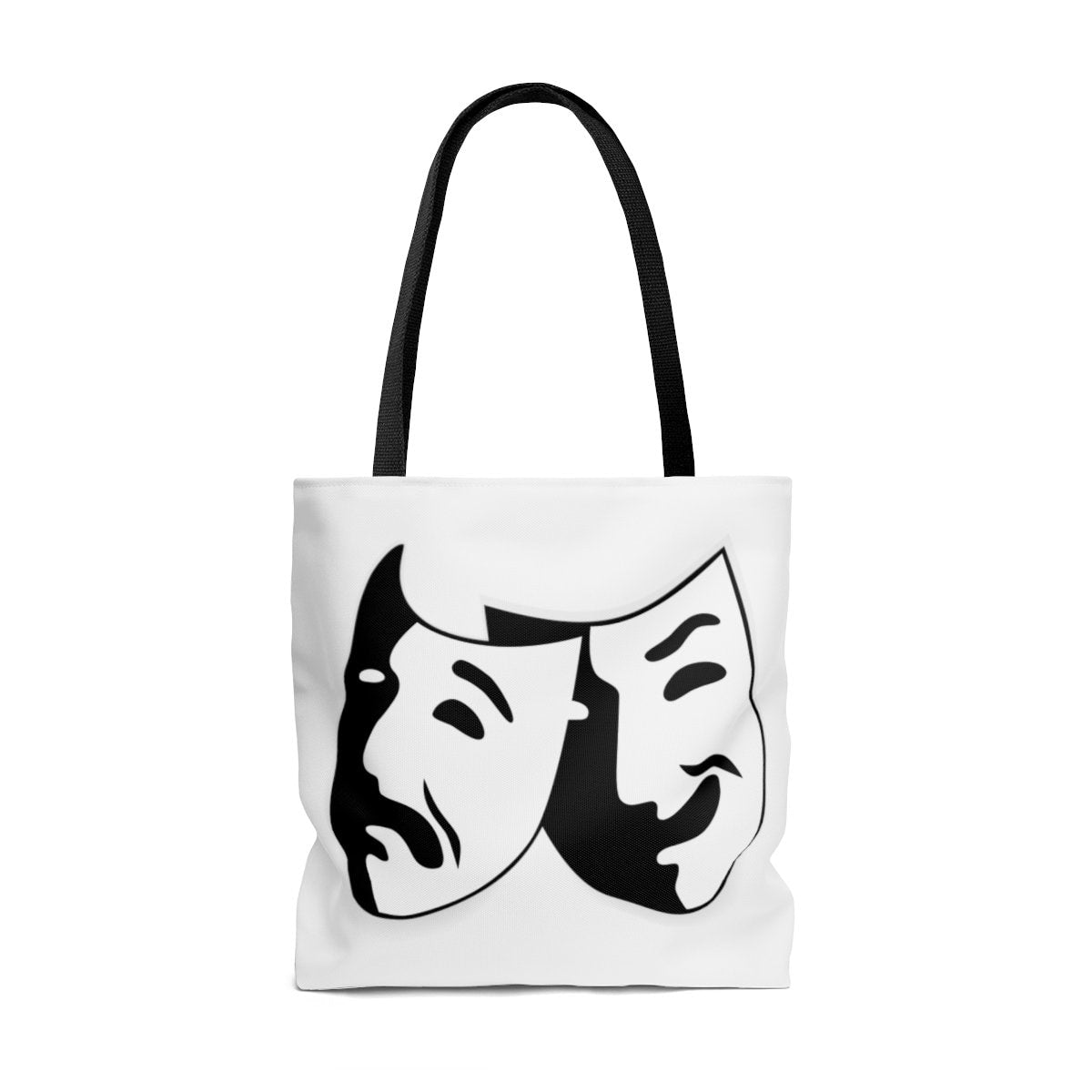 comedy and tragedy theatre masks tote bag theatre geek apparel
