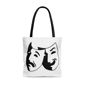 Comedy And Tragedy Theatre Masks - Tote Bag Large Bags