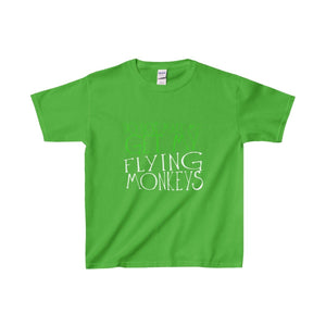 Do Not Make Me Get My Flying Monkeys - Youth Heavy Cotton Tee Electric Green / Xs Kids Clothes