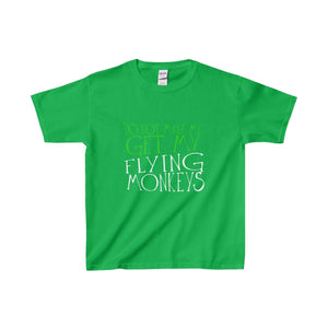 Do Not Make Me Get My Flying Monkeys - Youth Heavy Cotton Tee Irish Green / Xs Kids Clothes