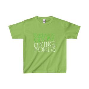 Do Not Make Me Get My Flying Monkeys - Youth Heavy Cotton Tee Lime / Xs Kids Clothes