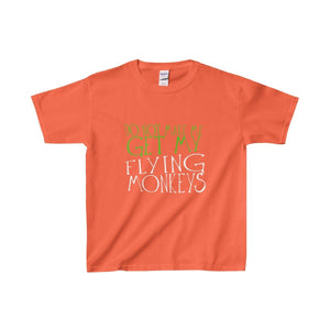 Do Not Make Me Get My Flying Monkeys - Youth Heavy Cotton Tee Orange / Xs Kids Clothes