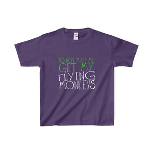 Do Not Make Me Get My Flying Monkeys - Youth Heavy Cotton Tee Purple / Xs Kids Clothes