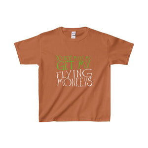 Do Not Make Me Get My Flying Monkeys - Youth Heavy Cotton Tee Texas Orange / Xs Kids Clothes