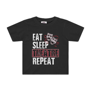 Eat Sleep Theatre Repeat - Kids Tee Black / 4T Kids Kids Clothes