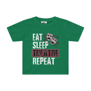 Eat Sleep Theatre Repeat - Kids Tee Kelly / 2T Kids Kids Clothes