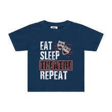 Eat Sleep Theatre Repeat - Kids Tee Navy / 2T Kids Kids Clothes