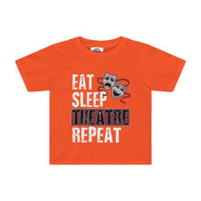 Eat Sleep Theatre Repeat - Kids Tee Orange / 2T Kids Kids Clothes