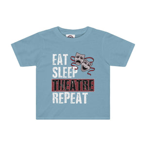 Eat Sleep Theatre Repeat - Kids Tee Sky Blue / 2T Kids Kids Clothes