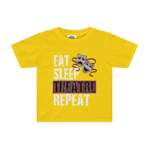 Eat Sleep Theatre Repeat - Kids Tee Sunflower / 2T Kids Kids Clothes