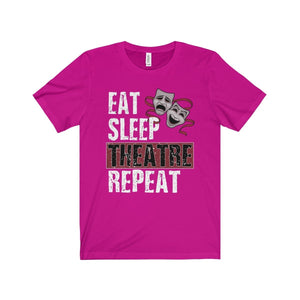 Eat Sleep Theatre Repeat - Unisex Jersey Short Sleeve Tee Berry / Xs Men Women T-Shirt