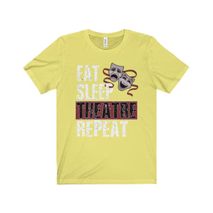 Eat Sleep Theatre Repeat - Unisex Jersey Short Sleeve Tee Yellow / Xs Men Women T-Shirt