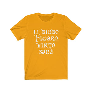 Il Birbo Figaro Vinto Sara (Marriage of Figaro) - Unisex Jersey Short Sleeve Tee