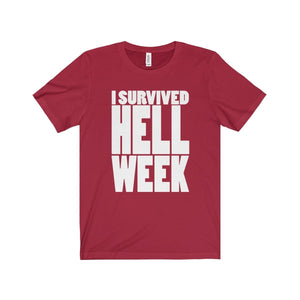 I Survived Hell Week - Unisex Jersey Short Sleeve Tee Canvas Red / Xs T-Shirt