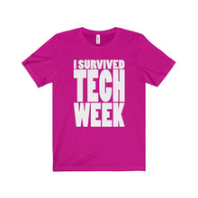 I Survived Tech Week - Unisex Jersey Short Sleeve Tee Berry / Xs T-Shirt