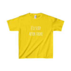 Ill Sleep After Strike - Youth Heavy Cotton Tee Daisy / Xs Kids Clothes