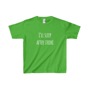 Ill Sleep After Strike - Youth Heavy Cotton Tee Electric Green / Xs Kids Clothes