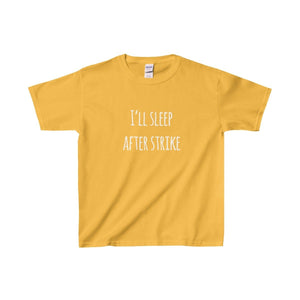 Ill Sleep After Strike - Youth Heavy Cotton Tee Gold / Xs Kids Clothes