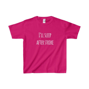 Ill Sleep After Strike - Youth Heavy Cotton Tee Heliconia / Xs Kids Clothes