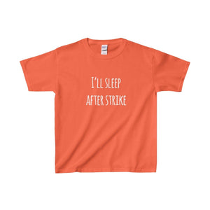 Ill Sleep After Strike - Youth Heavy Cotton Tee Orange / Xs Kids Clothes