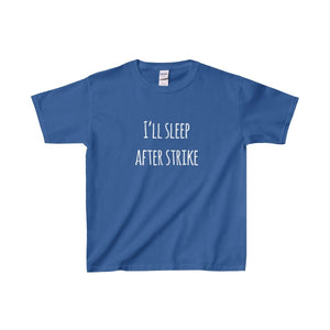 Ill Sleep After Strike - Youth Heavy Cotton Tee Royal / Xs Kids Clothes