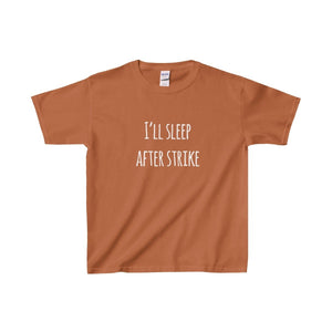 Ill Sleep After Strike - Youth Heavy Cotton Tee Texas Orange / Xs Kids Clothes