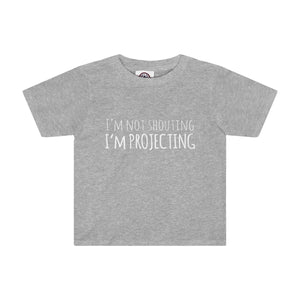 Im Not Shouting Projecting - Kids Tee Athletic Heather / 2T Clothes