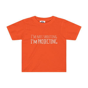 Im Not Shouting Projecting - Kids Tee Orange / 2T Clothes