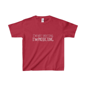 Im Not Shouting Projecting - Youth Heavy Cotton Tee Cardinal Red / Xs Kids Clothes