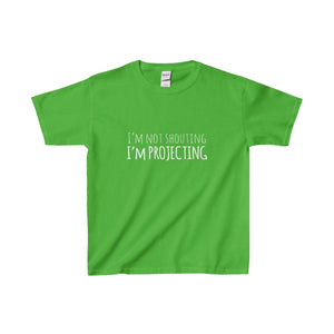 Im Not Shouting Projecting - Youth Heavy Cotton Tee Electric Green / Xs Kids Clothes