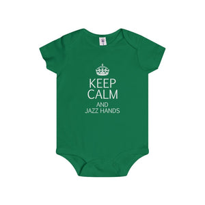"""KEEP CALM and Jazz Hands"" - Infant Rip Snap Tee - Theatre Geek Shirts & Apparel"