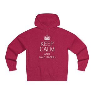 """KEEP CALM and Jazz Hands"" - Men's Lightweight Pullover Hooded Sweatshirt - Theatre Geek Shirts & Apparel"