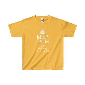Keep Calm And Survive Tech Week - Youth Heavy Cotton Tee Gold / Xs Kids Clothes