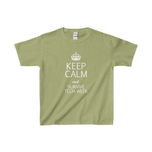 Keep Calm And Survive Tech Week - Youth Heavy Cotton Tee Kiwi / Xs Kids Clothes