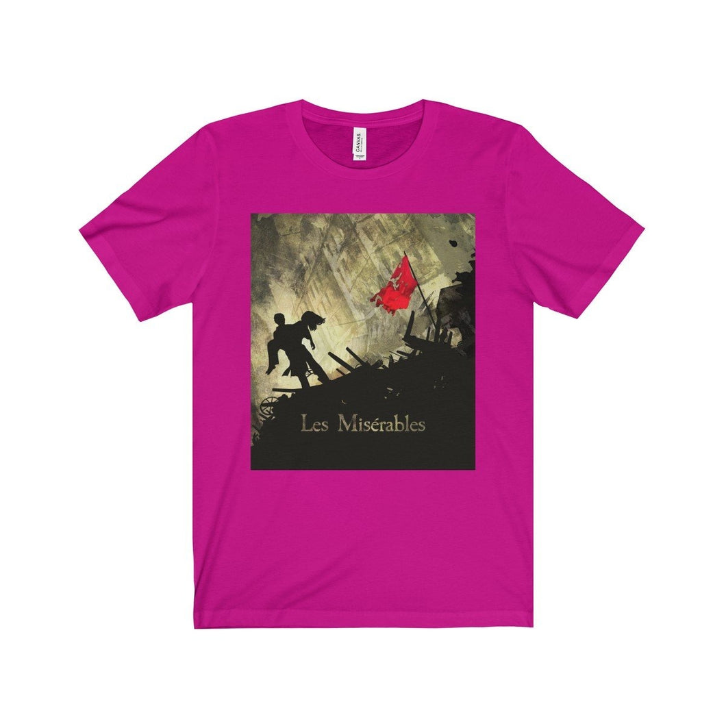 Les Miserables Barricade Shirt - Unisex Jersey Short Sleeve Tee Berry / Xs Men Women T-Shirt