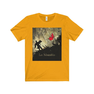 Les Miserables Barricade Shirt - Unisex Jersey Short Sleeve Tee Gold / Xs Men Women T-Shirt