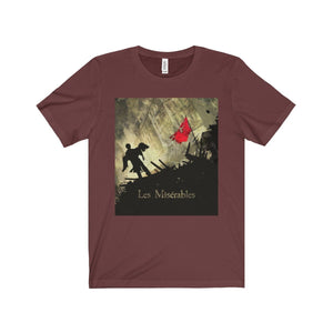 Les Miserables Barricade Shirt - Unisex Jersey Short Sleeve Tee Maroon / Xs Men Women T-Shirt