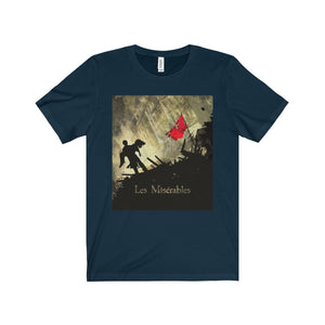 Les Miserables Barricade Shirt - Unisex Jersey Short Sleeve Tee Navy / Xs Men Women T-Shirt