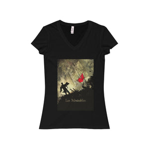 Les Miserables Shirt - Womens Jersey Short Sleeve V-Neck Tee Black / S Women V-Neck