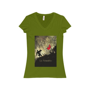Les Miserables Shirt - Womens Jersey Short Sleeve V-Neck Tee Leaf / S Women V-Neck