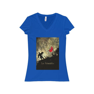 Les Miserables Shirt - Womens Jersey Short Sleeve V-Neck Tee True Royal / S Women V-Neck