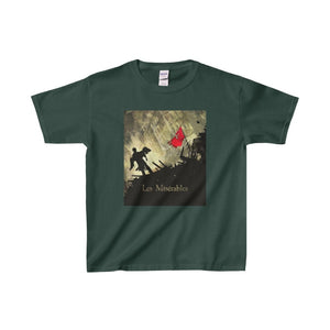 Les Miserables Barricade Shirt - Youth Heavy Cotton Tee Forest Green / Xs Kids Clothes