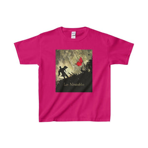 Les Miserables Barricade Shirt - Youth Heavy Cotton Tee Heliconia / Xs Kids Clothes