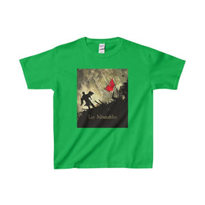 Les Miserables Barricade Shirt - Youth Heavy Cotton Tee Irish Green / Xs Kids Clothes