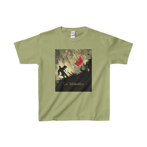 Les Miserables Barricade Shirt - Youth Heavy Cotton Tee Kiwi / Xs Kids Clothes