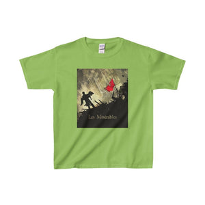 Les Miserables Barricade Shirt - Youth Heavy Cotton Tee Lime / Xs Kids Clothes