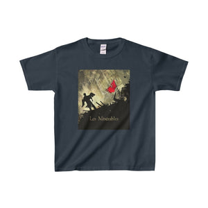 Les Miserables Barricade Shirt - Youth Heavy Cotton Tee Navy / Xs Kids Clothes