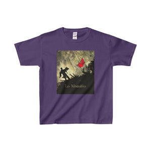 Les Miserables Barricade Shirt - Youth Heavy Cotton Tee Purple / Xs Kids Clothes