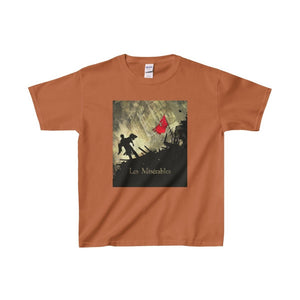 Les Miserables Barricade Shirt - Youth Heavy Cotton Tee Texas Orange / Xs Kids Clothes