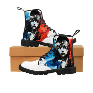 Les Miserables Cosette And French Flag - Mens Martin Boots Black / Us 9 Men Shoes Shoes